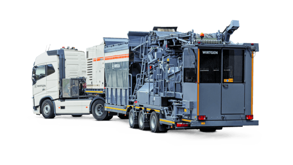 Mobile cold recycling mixing plant